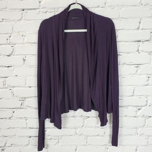 Theory Purple Draped Cardigan